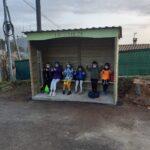 Un arrêt de bus à la Chièze