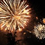 Descente aux flambeau, Feu d'artifices le 14 juillet aux Ollières