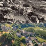 Les Ollières sur Eyrieux HIER ET AUJOURD'HUI : Place de l'Église