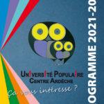 Présentation du nouveau programma de l'Université Populaire Centre Ardèche